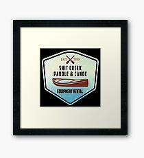 Paddle & Canoe Equipment Rental Framed Print