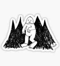 the lonely life of a yeti Sticker