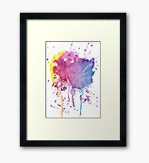 Yellow Pink Purple Blue Paint Splatter Framed Print