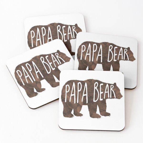Papa Bear Coasters (Set of 4)