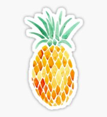 mosaic water color pineapple Sticker