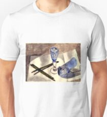 Blue vintage glass Unisex T-Shirt