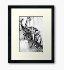 Shanghai Bicycles Framed Print