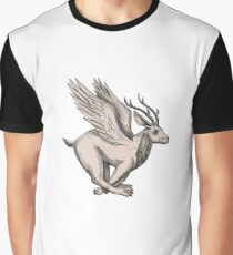 Wolpertinger Running Side Tattoo Graphic T-Shirt