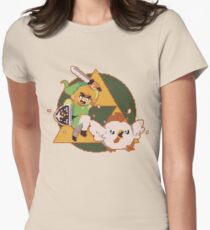 LINK VS CHICKEN Womens Fitted T-Shirt