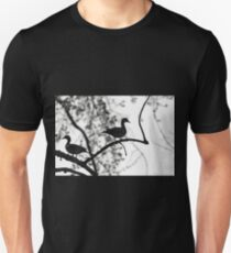 Wood Ducks Black And White Unisex T-Shirt
