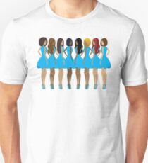 Sisters in Blue T-Shirt