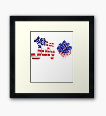 4th of July independence Day with American Flag Balloon Framed Print