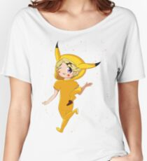 Pika Yoo With Flowers Women's Relaxed Fit T-Shirt