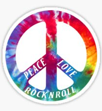 peace love rock n roll Sticker