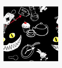 Alice in Wonderland Pattern Photographic Print