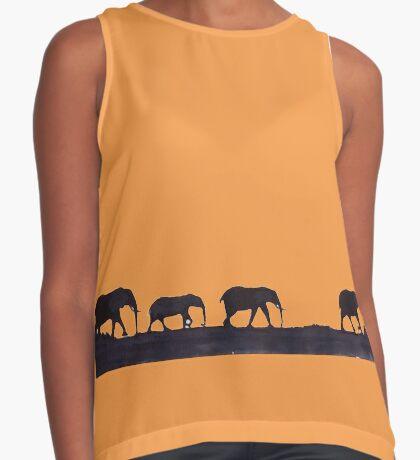 Lodge décor  - Mix & Match Throw Pillow - Elephants Sleeveless Top