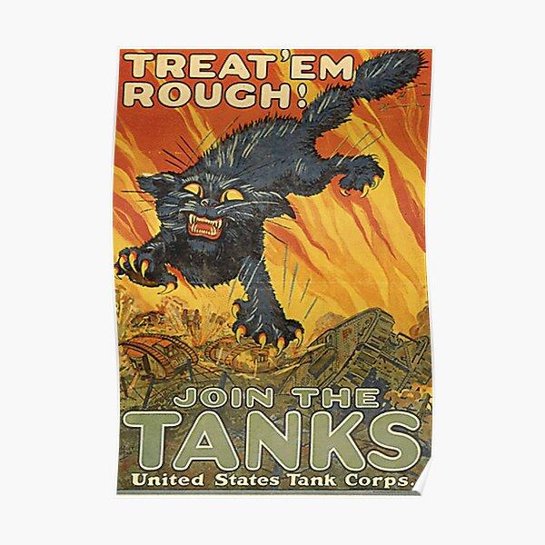 WW1 Propaganda Poster - U.S. Military Vintage Design Poster