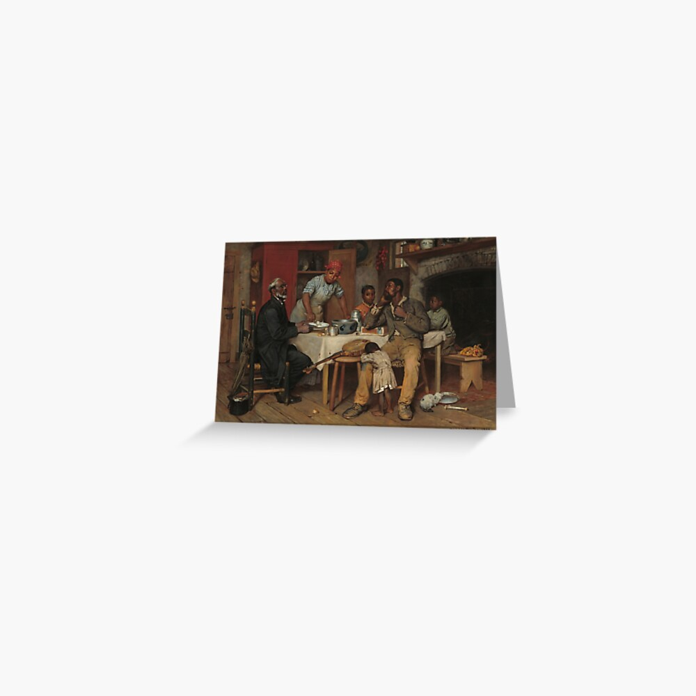 A Pastoral Visit Oil Painting by Richard Norris Brooke Greeting Card