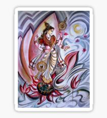 Musical Goddess Saraswati - Healing Art Sticker