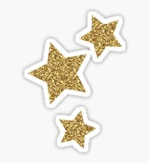 Glitter Stars Trio Sticker