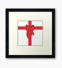 Red Ribbon Framed Print