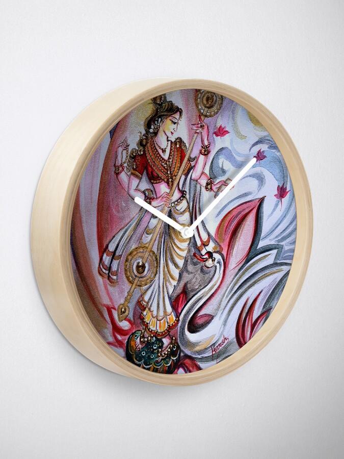 Alternative Ansicht von Musikalische Göttin Saraswati - Heilkunst Uhr