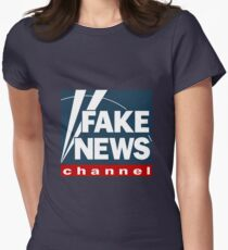 Fake News inspired by Fox news Women's Fitted T-Shirt