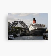 QE II - Leaving Sydney Harbour II Canvas Print