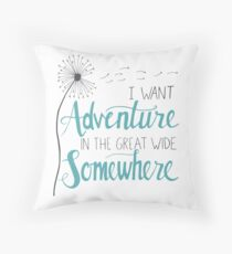 Ich möchte Abenteuer Dekokissen