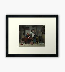 Waiting for the Stage Oil Painting by Richard Caton Woodville Framed Print