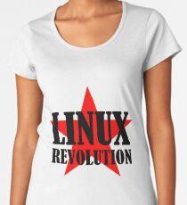 Linux Revolution Large Women's Premium T-Shirt