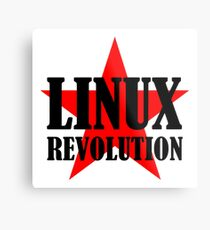 Linux Revolution Large Metal Print