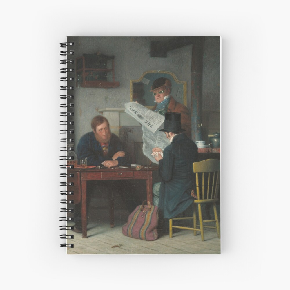 Waiting for the Stage Oil Painting by Richard Caton Woodville Spiral Notebook