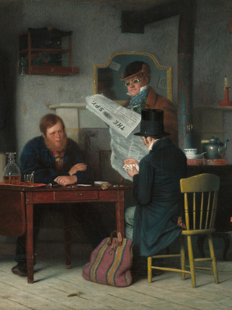 Waiting for the Stage Oil Painting by Richard Caton Woodville by podartist