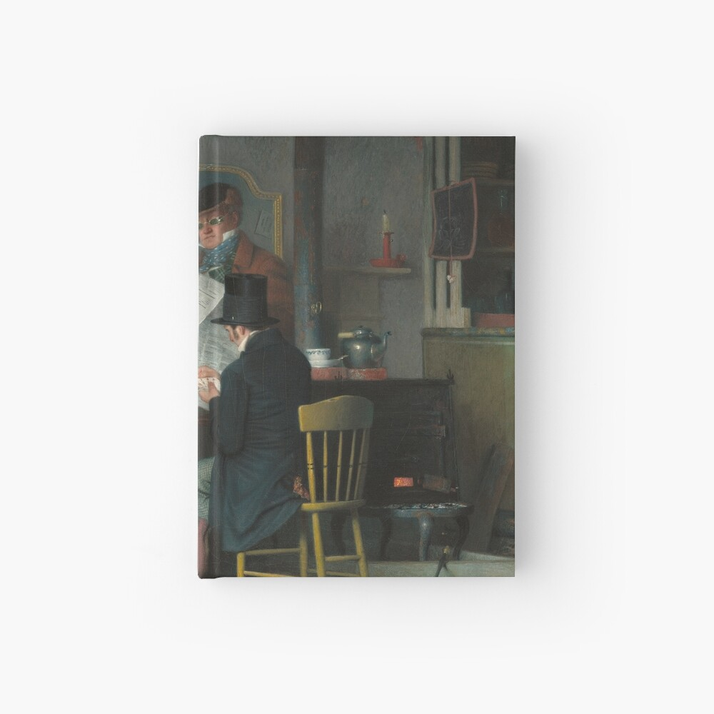 Waiting for the Stage Oil Painting by Richard Caton Woodville Hardcover Journal