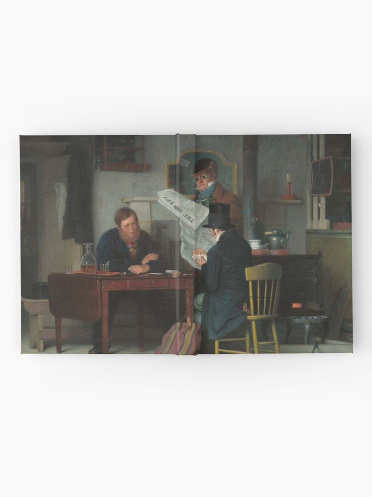 Alternate view of Waiting for the Stage Oil Painting by Richard Caton Woodville Hardcover Journal