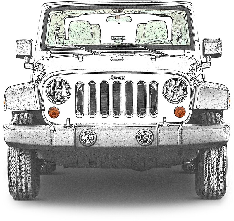 """Jeep Wrangler Sport"" Stickers By Jonathan487"
