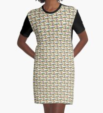 Funny Alpaca Graphic T-Shirt Dress