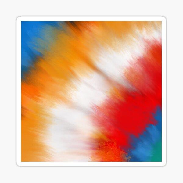 rainbow tie dye Sticker
