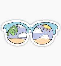 Paradise Sunglasses Sticker
