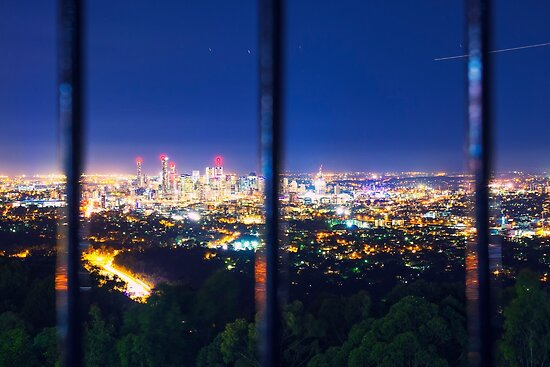 View of Brisbane City from Mount Coot-tha by Rob D