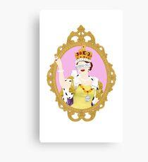 """""""Queens Only"""" - Queen Elizabeth II Canvas Print"""
