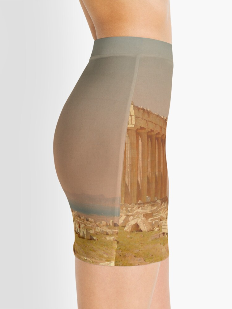 Alternate view of Ruins of the Parthenon Oil Painting by Sanford Robinson Gifford Mini Skirt