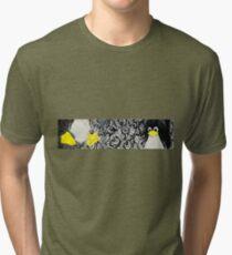 Penguin Linux Tux art graphic Tri-blend T-Shirt