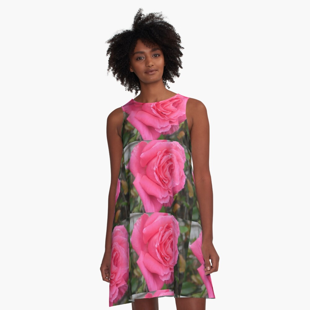 Pink Reverberation  A-Line Dress Front