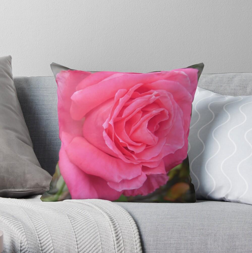 Pink Reverberation  Throw Pillow