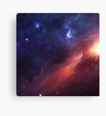 Universe in Red and Blue Canvas Print