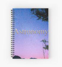 Astronomy Calendar Album Cover Spiral Notebook