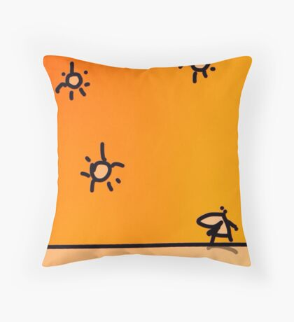 Very Sunny Day Throw Pillow