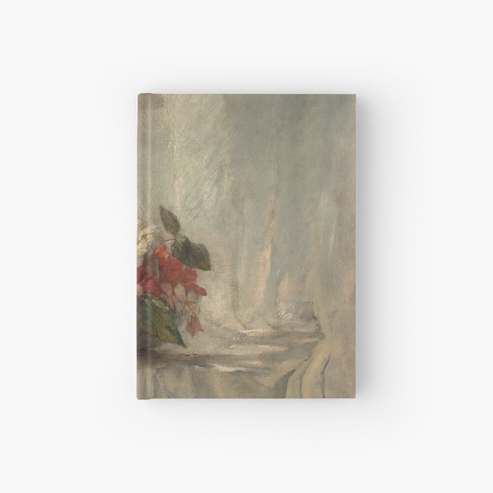 Flowers on a Window Ledge Oil Painting by John La Farge Hardcover Journal
