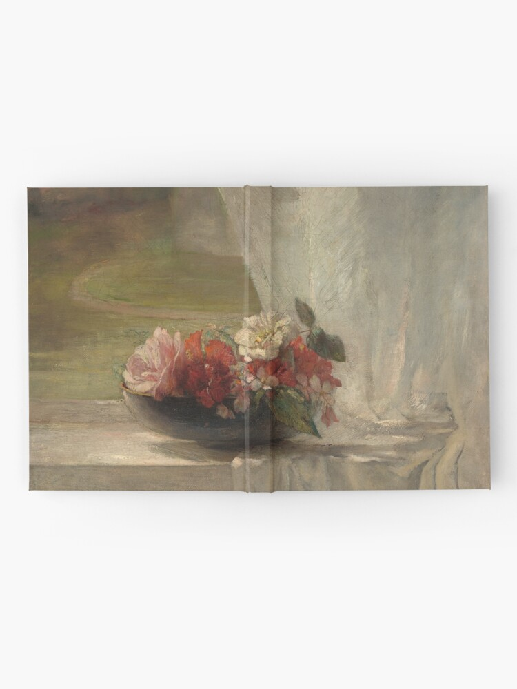 Alternate view of Flowers on a Window Ledge Oil Painting by John La Farge Hardcover Journal