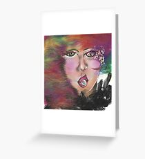 Looking at you - bride portrait Greeting Card