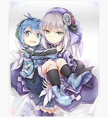 Blue And Purple Girls Poster