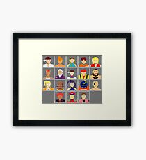 Select Your Character - Street Fighter Alpha 2 Framed Print